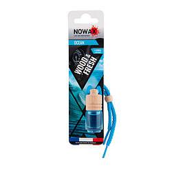 Ароматизатор автомобільний підвісний Nowax Wood&Fresh Ocean рідина (NX07708)