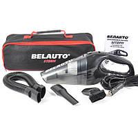 Пылесос для машины от прикуривателя для уборки салона авто 110 Вт 35 кПа BELAUTO Шторм черный (BA54B)