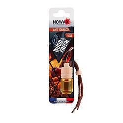 Ароматизатор автомобільний підвісний Nowax Wood&Fresh Anti Tobacco рідина (NX07701)