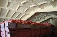 Утепление фрукто и овощехранилищ методом напыления пенополиуретаномППУ
