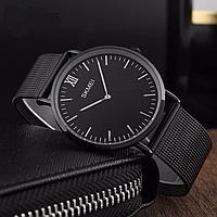 Мужские часы Skmei 1181 золотые / черные / серебристые