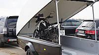 Прицеп легковой для квадроцикла, снегохода, мотоцикла, байковоз, гидроцикла черный