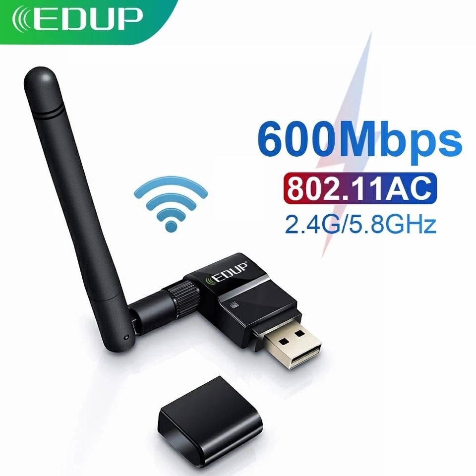 Двухдиапазонный WiFi AC600Mbps 5Ghz USB адаптер EDUP EP-AC1635