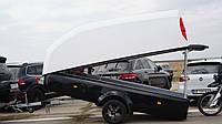 Прицеп фургон для бизнеса, авто-прицеп,  стекло-пластиковый прицеп