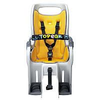Велокресло детское заднее Topeak Baby Seat II на багажник, желтое (GT)