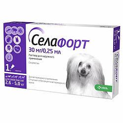 Краплі Selafort Селафорт Спот він від бліх і глистів для собак 2,6-5,0 кг 1 шт