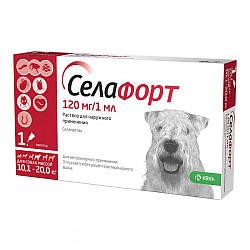 Краплі Selafort Селафорт Спот він від бліх і глистів для собак10,1-20,0 кг 1 шт