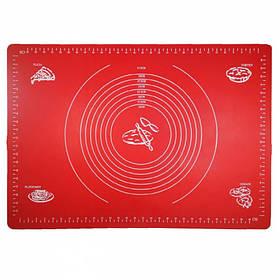 Силиконовый коврик A-PLUS 65 х 45 см для раскатки теста красный