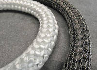Шнур эластичный STЕ550 5мм термоизоляционный уплотнительный из стекловолокна для каминов, топок и дымоходов