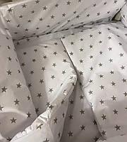 Набор бортики и постельное в детскую кроватку