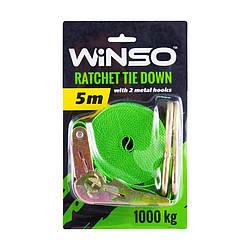 Стяжний ремінь WINSO (141500) 1т 5м ширина стрічки 25 мм