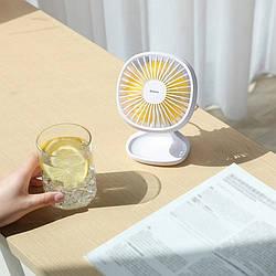 Вентилятор настольный портативный Baseus Pudding-Shaped Fan (белый) (CXBD-02)