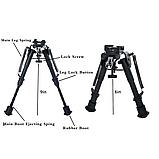 Сошки оружейные телескопические для винтовки PCP HARRIS BIPOD копия, фото 2