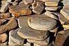 Камень днепровский окатанный песчаник коричневый