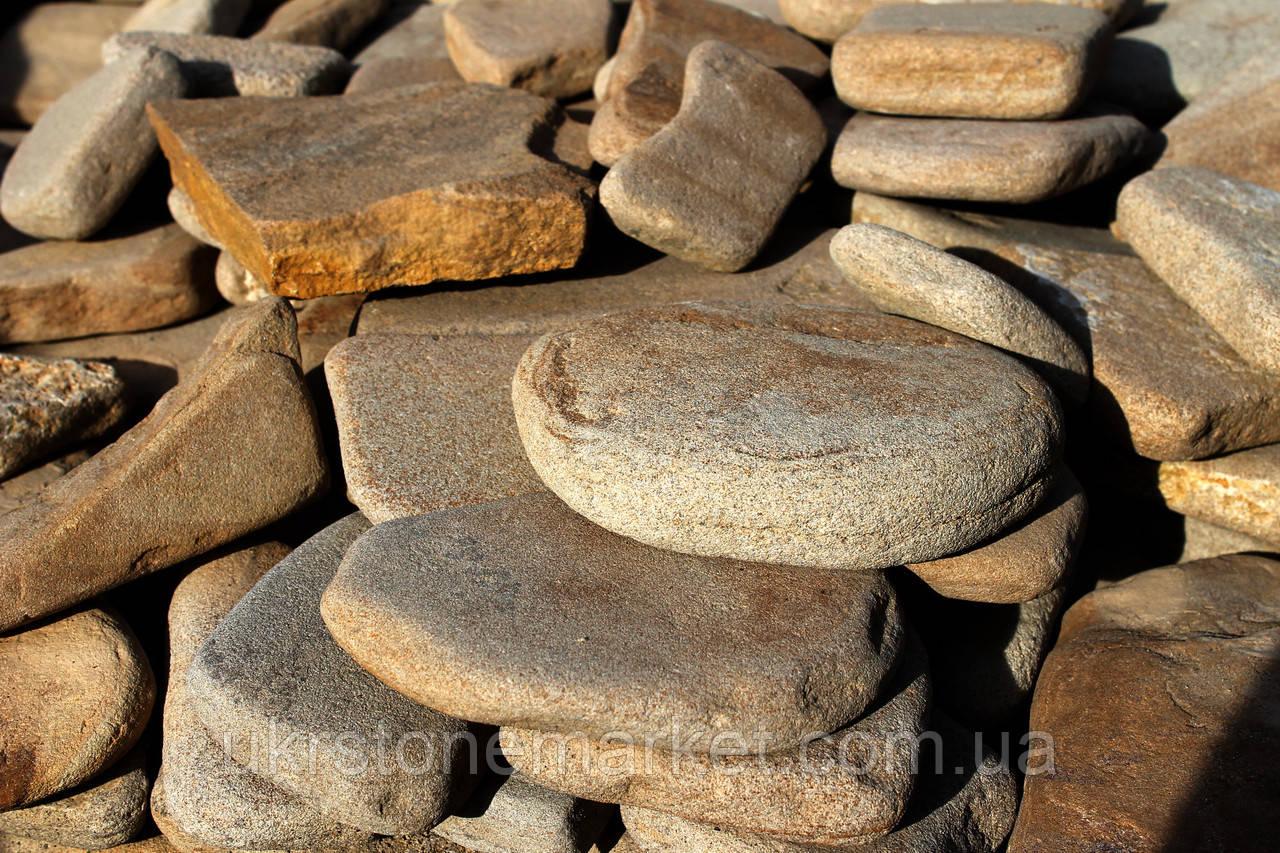 Камень окатанный песчаник коричневый - Песчаник цена камень купить камень недорого, камни натуральные, картины на камне, отделочный камень в Хмельницком