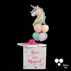 Коробка сюрприз с единорогом для маленькой принцессы
