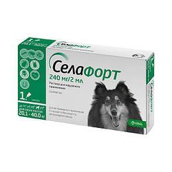 Краплі Selafort Селафорт Спот він від бліх і глистів для собак 20,1-40,0 кг 1 шт