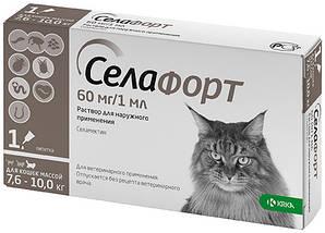 Краплі Selafort Селафорт Спот він від бліх і глистів для котів 7,6-10,0 кг  1 шт