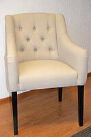 Кресло KORNA с подлокотниками 62х70х90см из ткани и эко-кожи