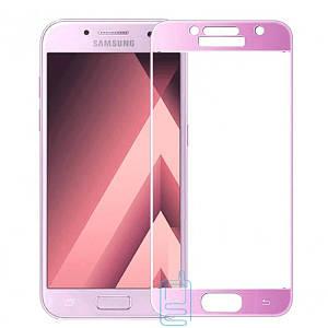 Защитное стекло Full Screen Samsung A3 2017 A320 pink тех.пакет