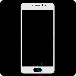 Защитное стекло Full Screen Meizu M3e white тех.пакет