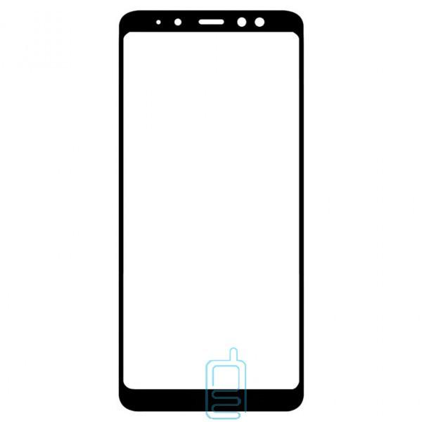 Защитное стекло Full Glue Samsung A8 Plus 2018 A730 black тех.пакет