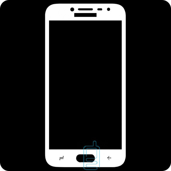 Защитное стекло Full Glue Samsung J2 2018 J250, J2 Pro 2018 white тех.пакет