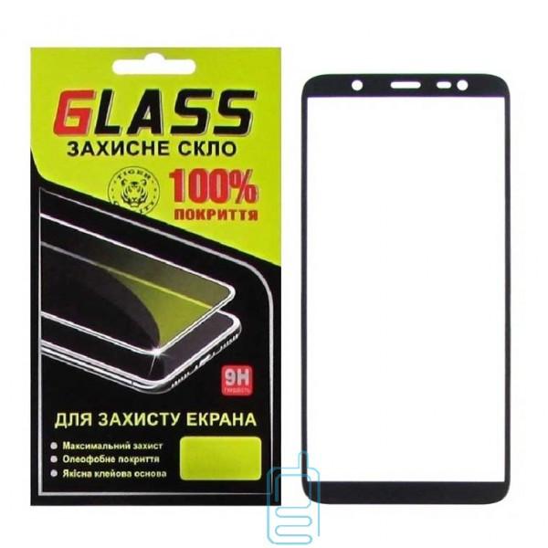 Защитное стекло Full Glue Samsung J8 2018 J810 black Glass
