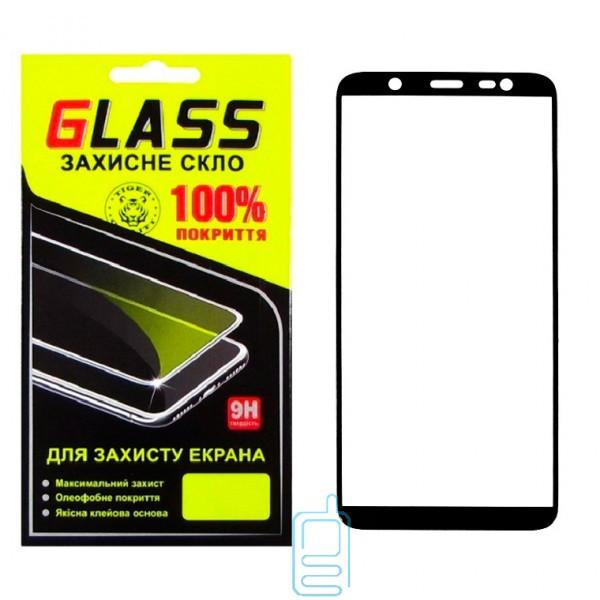 Защитное стекло Full Screen Samsung J8 2018 J810 black Glass