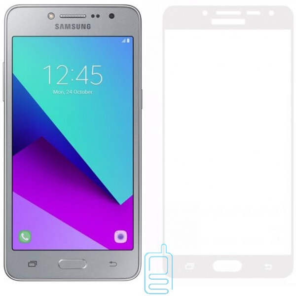 Защитное стекло Full Screen Samsung Grand Prime G530, J2 Prime G532 white тех.пакет