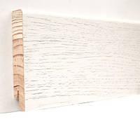 "Шпонированный плинтус ""Kluchuk"", коллекция Модерн, Дуб Белый, арт. KLM80-12"