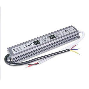 Блок питания (трансформатор, драйвер) Biom Блок питания 45W 12V 3.75A IP67 FTR-45-12 герметичный, фото 2