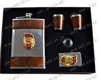 Подарочный набор СССР AL209F Фляга+2 стопки+лейка+зажигалка Оригинальные подарки мужчине Набор мужчины в поход