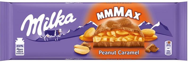 Шоколад молочный с карамелью и арахисом Milka Peanut Caramel, 300г Швейцария