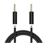 AUX кабель 3.5 мм в нейлоновой оплётке (1м), фото 1