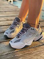 Женские серые кроссовки Nike M2K Tekno Grey (Женские кроссовки Найк М2К Текно серого цвета) 36-41, фото 1