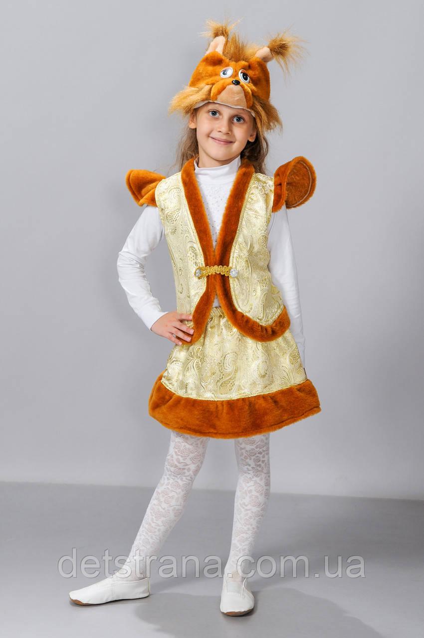 Детский костюм Белочка парча