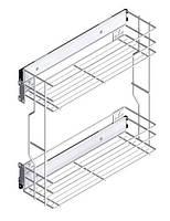 Карго мебельное // Rejs / B= 150 мм / 2 полки / боковое / без доводчика / эффект хрома (матовый хром)