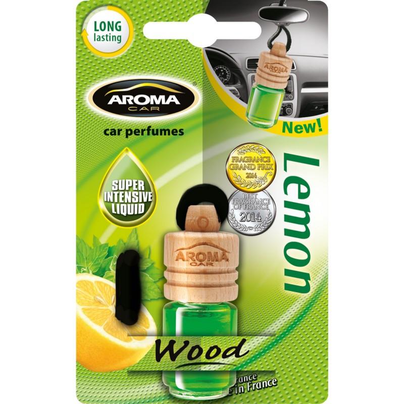 Ароматизатор в машину пахучка для авто Aroma Car Wood Lemon