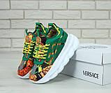 Женские кроссовки Versace Chain Reaction green, женские кроссовки Версачи, кроссовки версаче, фото 2
