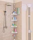 Угловая полка для ванной комнаты Multi Corner Shelf Стойка Стелаж, фото 9