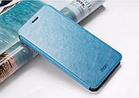 Кожаный чехол книжка MOFI для Lenovo Vibe P1 голубой