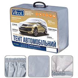 Тент на автомобиль джип и минивэн Vitol серый с подкладкой PEVA+non PP Cotton (JC13402 XL)