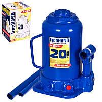 Домкрат гидравлический Vitol бутылочный 20т 217-407 мм (IH-317407D)