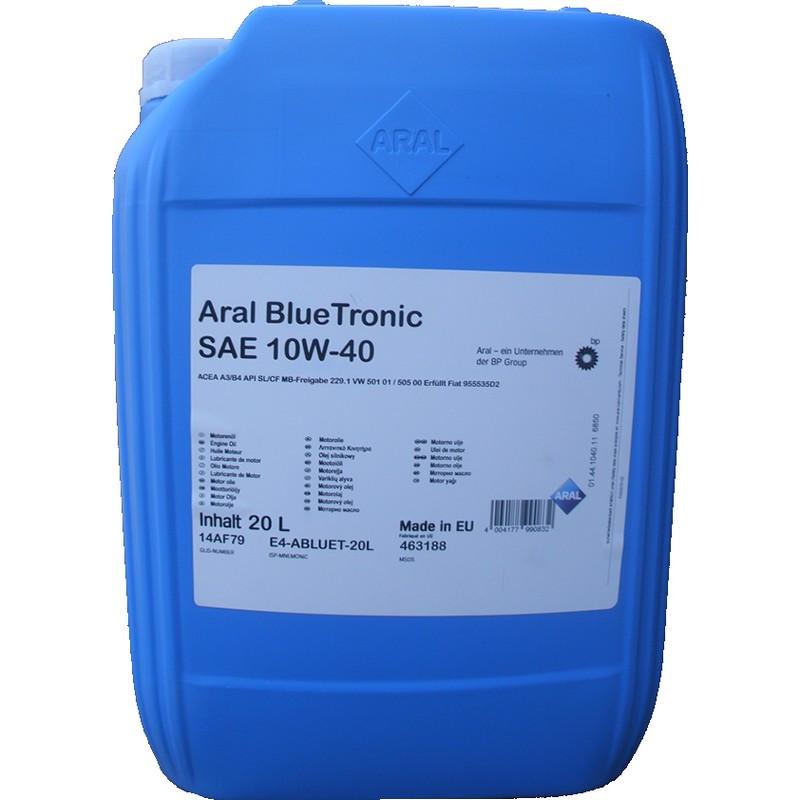 Моторное масло Aral 10487 Blue Tronic 10W-40 20L