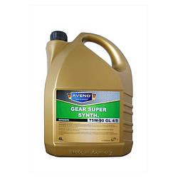 Трансмиссионное масло AVENO Gear Super Synth 75W-90 GL 4/5 4L (3022206-004)