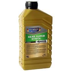 Трансмиссионное масло AVENO Gear Super Synth 75W-90 GL4/5 1L (3022206-001)
