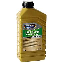 Трансмиссионное масло AVENO Gear Super Synth LS 75W-90 GL 5 1L (3022507-001)