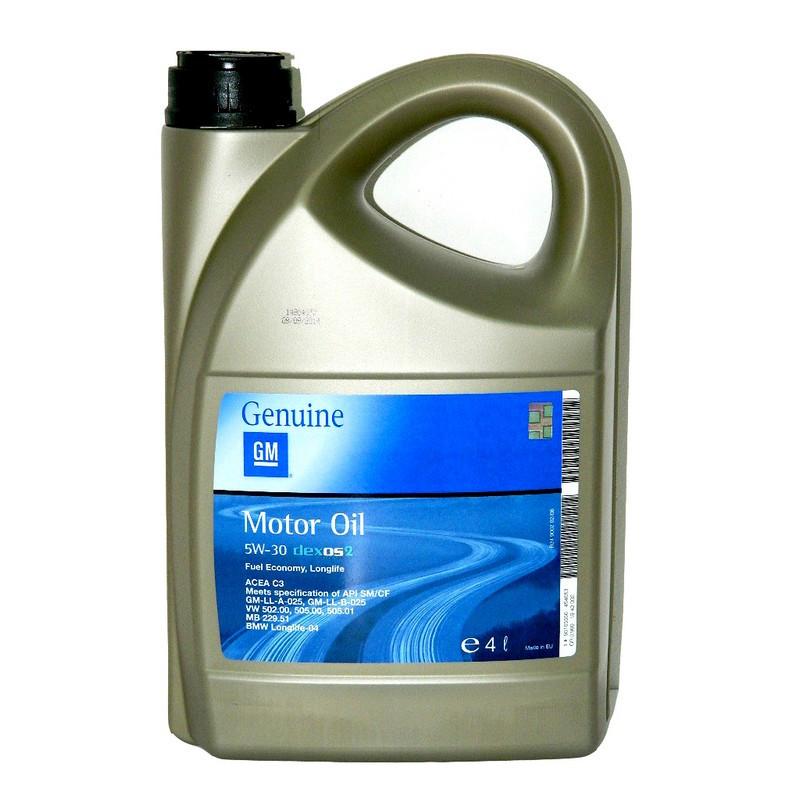 Моторное масло GM Dexos2 Longlife 5W-30 4L (1942002)
