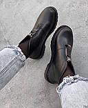 Женские демисезонные ботинки на молнии с камнями, фото 6